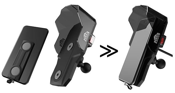 Soportes magnéticos de teléfono para moto